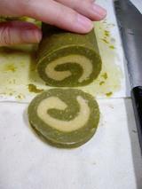 バレンタインクッキー、うずまき緑茶