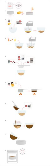 チョコケーキ絵レシピ・小