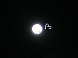 big full moon with love for you