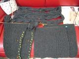 編み物、パーツはほぼ完成