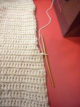 マフラー、ふち編み