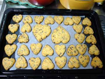 バレンタインクッキー、ハートだらけ