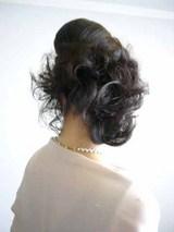 披露宴の髪、バックスタイル