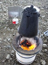 BBQ-湯沸かし