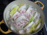 白菜煮えたかな。