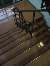 事務室への階段。ウンバルンバが磨いています。