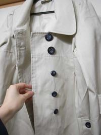 春コート、隠しボタン