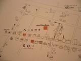 地図。各店舗のアイコン(?)が可愛い!