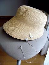 帽子どめちゃんを帽子に