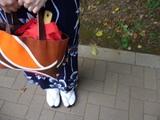 紺浴衣×shibafオレンジ