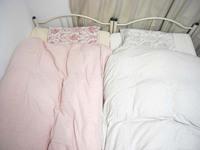春のベッド