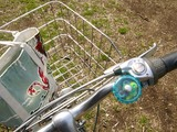 自転車、ブルーのベル