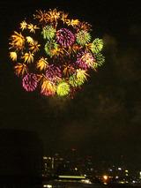 東京湾花火、たくさんひとつ