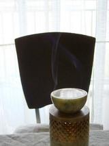 月桃を炊く、ゆらめく煙3