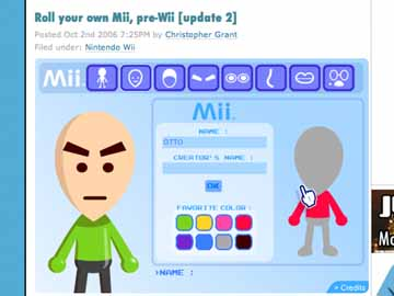 Wii似顔絵、OTTO