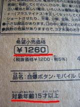 自爆ボタン、1260円