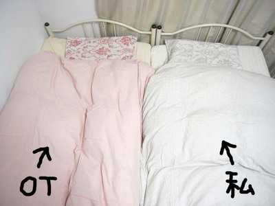 春のベッド、仕分け